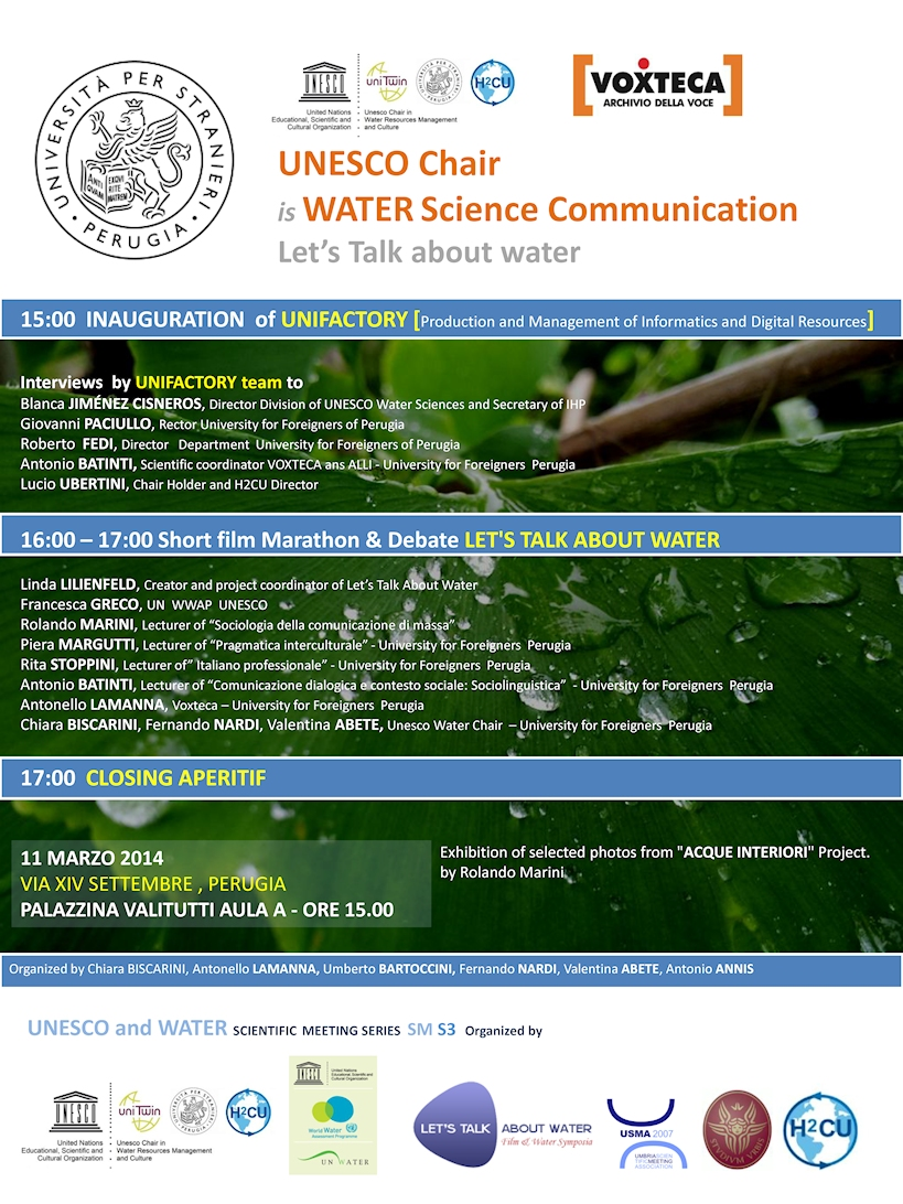 UNESCO and WATER - Scientific Meeting  Series 3