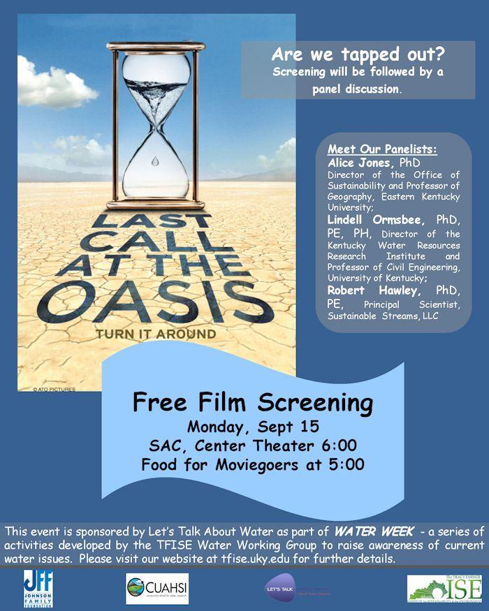 Water Week Film Screening